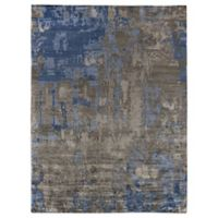 Exquisite Rugs Abstract Expressions 6-Foot x 9-Foot Area Rug in Blue/Grey