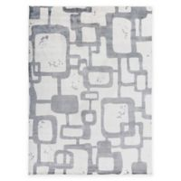 Exquisite Rugs Koda Geometric 8-Foot x 10-Foot Area Rug in Ivory/Blue