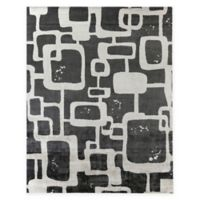 Exquisite Rugs Koda Geometric 8-Foot x 10-Foot Area Rug in Grey/ivory