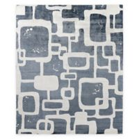 Exquisite Rugs Koda Geometric 8-Foot x 10-Foot Area Rug in Denim