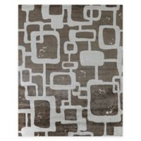 Exquisite Rugs Koda Geometric 8-Foot x 10-Foot Area Rug in Tan/Ivory