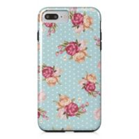 Designs Direct Floral Dot Pattern Tough Case for iPhone 7 Plus in Blue