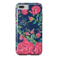 Designs Direct Rose Garden Tough Case for iPhone 7 Plus in Navy/Pink
