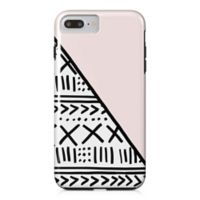 Designs Direct Diagonal Aztec-Inspired Print Tough Case for iPhone 7 Plus in Pink