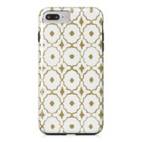 Designs Direct Moroccan Tile Tough Case for iPhone 7 Plus in Gold/White