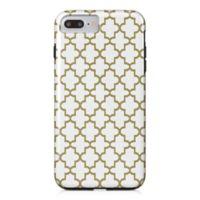 Designs Direct Quatrefoil Tough Case for iPhone 7 Plus in Gold/White