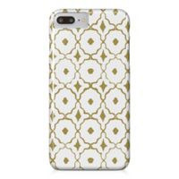 Designs Direct Moroccan Tile Barely There Case for iPhone 7 Plus in Gold/White