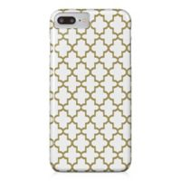 Designs Direct Quatrefoil Barely There Case for iPhone 7 Plus in Gold/White