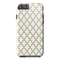 Designs Direct Quatrefoil Tough Case for iPhone 6/6S in Gold/White