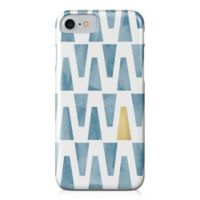 Designs Direct Watercolor Triangles Barely There Case for iPhone 7 in Blue