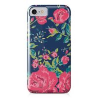 Designs Direct Rose Garden Barely There Case for iPhone 7 in Navy/Pink