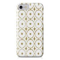 Designs Direct Moroccan Tile Barely There Case for iPhone 7 in Gold/White