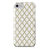 Designs Direct Quatrefoil Barely There Case for iPhone 7 in Gold/White