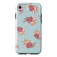 Designs Direct Floral Dot Pattern Tough Case for iPhone 7 in Blue