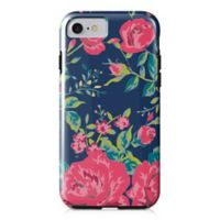 Designs Direct Rose Garden Tough Case for iPhone 7 in Navy/Pink