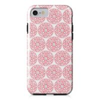 Designs Direct Moroccan Circles Tough Case for iPhone 7 in Coral Pink
