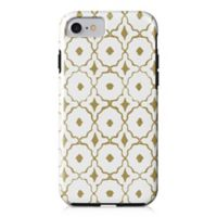 Designs Direct Moroccan Tile Tough Case for iPhone 7 in Gold/White