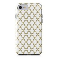 Designs Direct Quatrefoil Tough Case for iPhone 7 in Gold/White