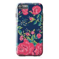 Designs Direct Rose Garden Tough Case for iPhone 6 Plus in Navy/Pink