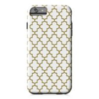 Designs Direct Quatrefoil Tough Case for iPhone 6 Plus in Gold/White