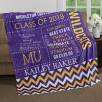 School Memories Graduation 60-Inch x 80-Inch Fleece Throw Blanket