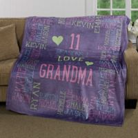 """Reasons Why"" for Her 60-Inch x 80-Inch Fleece Throw Blanket"