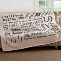 """Our Life Together"" 60-Inch x 80-Inch Fleece Throw Blanket"