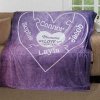 """""""We Love you to Pieces"""" 50-Inch x 60-Inch Fleece Throw Blanket"""