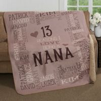 Reasons Why For Her Personalized 50-Inch x 60-Inch Sherpa Blanket