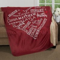 Close to Her Heart 50-Inch x 60-Inch Premium Sherpa Throw Blanket