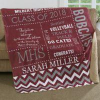 School Memories 60-Inch x 80-Inch Premium Sherpa Throw Blanket