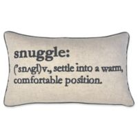 Snuggle Definition Oblong Throw Pillow in Navy
