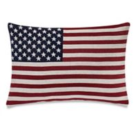Make-Your-Own-Pillow Americana Oblong Throw Pillow Cover in Red