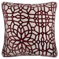 Make-Your-Own-Pillow Cervella Velvet Square Throw Pillow Cover in Red