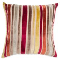 Make-Your-Own-Pillow Mason Stripe Square Throw Pillow Cover in Red