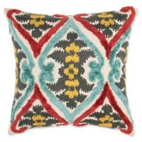 Make-Your-Own-Pillow Native Ikat Square Throw Pillow Cover in Red