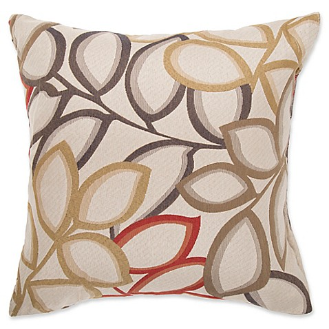 make your own pillow poeme square throw pillow cover in red bed