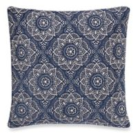 Make-Your-Own-Pillow Casbah Square Throw Pillow Cover in Blue