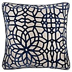 Make-Your-Own-Pillow Cervella Velvet Square Throw Pillow Cover in Navy