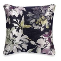 Make-Your-Own-Pillow Durvalina Square Throw Pillow Cover in Metallic Navy