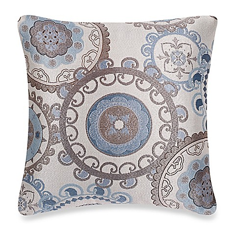 make your own pillow equinox square throw pillow cover in aqua bed bath beyond. Black Bedroom Furniture Sets. Home Design Ideas