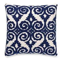 Make-Your-Own-Pillow Franz Square Throw Pillow Cover in Navy