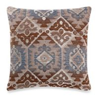 Make-Your-Own-Pillow Menuetto Square Throw Pillow Cover in Blue