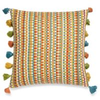 Make-Your-Own-Pillow Bella Rug Square Throw Pillow Cover in Coral