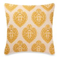 Make-Your-Own-Throw-Pillow Class Companion Square Throw Pillow Cover in Yellow