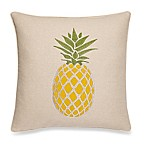 Make-Your-Own-Pillow Pineapple Cake Square Throw Pillow Cover in Yellow