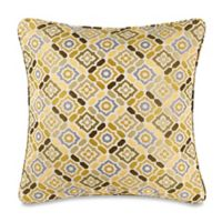 Make-Your-Own-Pillow Ritz Square Throw Pillow Cover in Green