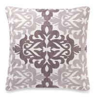 Make-Your-Own-Pillow Del Ray Chain Stitch Square Throw Pillow Cover in Grey