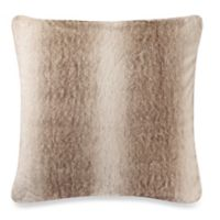 Make-Your-Own-Pillow Grizzly Fur Square Throw Pillow Cover in Brown