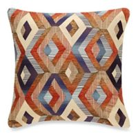 Make-Your-Own-Pillow Kotake Square Throw Pillow Cover in Rust